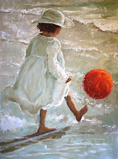 THE RED KICK BALL - Oil