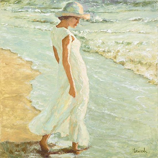 THE GIRL IN THE WHITE DRESS - Oil