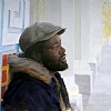 "The Novelist by Mario Robinson Oil ~ 11"" x 14"""