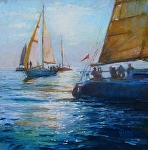 Mark Rounding by Kathleen Newman Pastel ~ 12 x 12