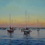 Early Morning Harbor by Kathleen Newman Oil ~ 12 x 12