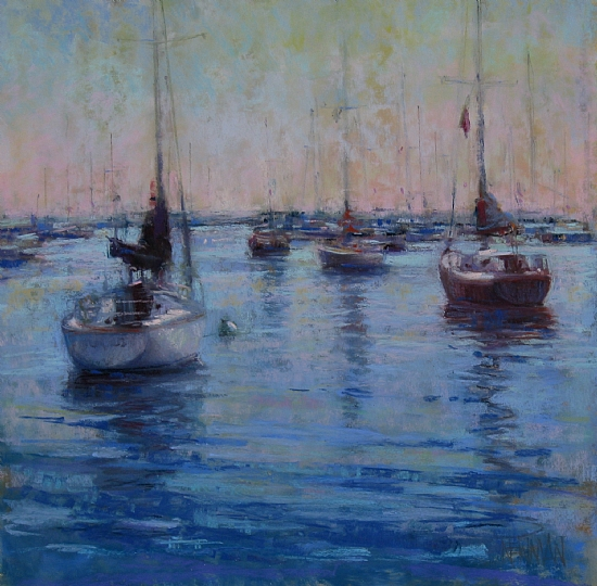 Morning Harbor by Kathleen Newman Pastel ~ 12 x 12