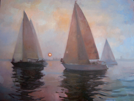 Sunset Sail by Kathleen Newman Oil ~ 30 x 40
