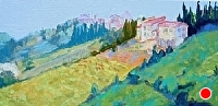 Tuscan Hillside by Blanche McAlister Harris Oil ~ 12 x 24