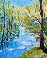 Early Spring by Blanche McAlister Harris Oil ~ 30 x 24