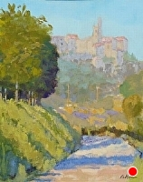 View to Orvieto by Blanche McAlister Harris Oil ~ 20 x 16