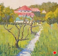 Morning in Giverny by Blanche McAlister Harris Oil ~ 20 x 20