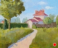 Sunlight on the Chateau by Blanche McAlister Harris Oil ~ 20 x 24