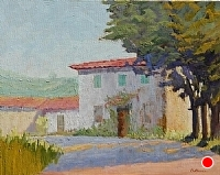House in Toscana by Blanche McAlister Harris Oil ~ 24 x 30