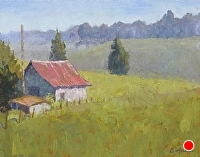 Blue Ridge Morning by Blanche McAlister Harris Oil ~ 16 x 20