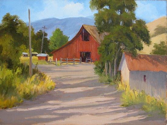 Afternoon Shadows by Sue Johnson Oil ~ 12 x 16