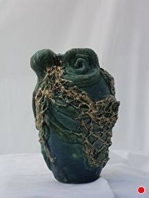 Netted Octopus by Martin Cushman Clay ~ 8'' tall x 14'' around