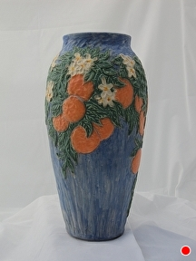 Orange Blossom Special by Martin Cushman Clay ~ 14'' tall x 23'' around