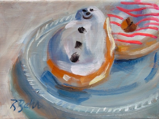 "Frosty today in North Carolina by Brenda Behr Oil ~ 6"" x 8"""
