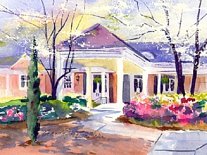 "Goldsboro Country Club in Springtime by Brenda Behr Gicl�e reproduction ~ 8"" x 10"""