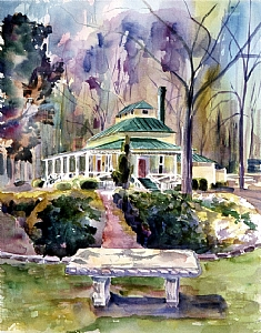 The Park House by Brenda Behr Gicl�e reproduction ~ 18 x 12