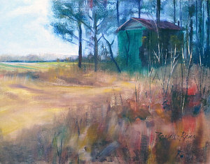 "Tobacco Barn 1216 by Brenda Behr Oil ~ 11"" x 14"""