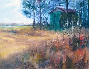 """Tobacco Barn 1216 by Brenda Behr Oil ~ 11"""" x 14"""""""