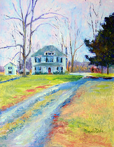 "Old Thompson home place by Brenda Behr Oil ~ 18"" x 14"""