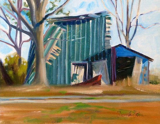 "Most fall down by Brenda Behr Oil ~ 11"" x 14"""
