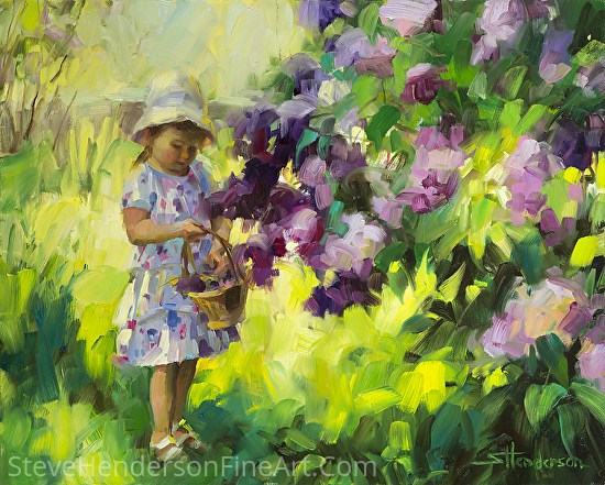 Lilac Festival by Steve Henderson Oil ~ 16 x 20