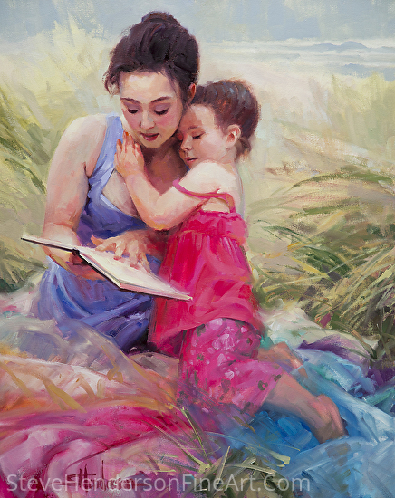 Seaside Story -- Licensed Open Edition Art Print at Great Big Canvas, Art.com, Amazon.com, Framed Canvas Art, iCanvasART, and Light in the Box by Steve Henderson  ~  x
