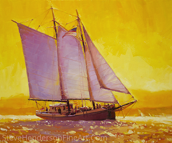Golden Sea -- Licensed Open Edition Art Print at Great Big Canvas, Framed Canvas Art, and iCanvasART by Steve Henderson  ~  x