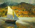 Autumn Sail -- Licensed Open Edition Print at Great Big Canvas, iCanvasART, and Amazon.com by Steve Henderson  ~  x