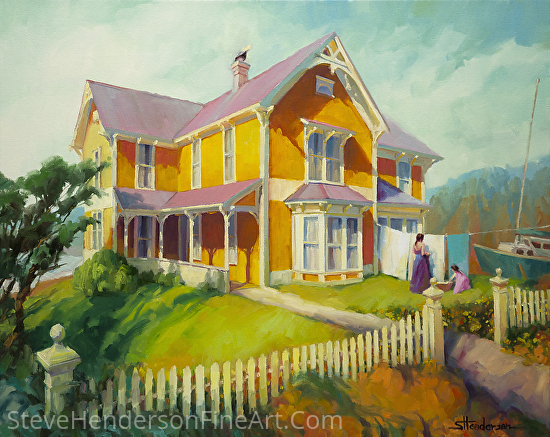 Sophie and Rose -- Licensed Open Edition Art Print at Great Big Canvas and iCanvasART by Steve Henderson  ~  x