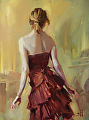 Girl in a Copper Dress 1 -- Licensed Open Edition Print at Great Big Canvas, iCanvasART, and Amazon.com by Steve Henderson  ~  x