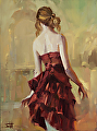 Girl in a Copper Dress 2 -- Licensed Open Edition Print at Great Big Canvas and iCanvasART by Steve Henderson  ~  x