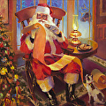 The Christmas List -- Original, Signed Limited Edition Print, Poster, and Greeting Card by Steve Henderson  ~  x