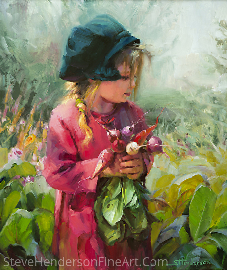 Child Of Eden by Steve Henderson Oil ~ 24 x 20