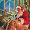 The World Traveler -- original oil painting, signed limited edition print, poster by Steve Henderson  ~ 24 x 24