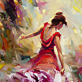 Dancer -- Licensed Art Print at iCanvasART, Vision Art Galleries, and Framed Canvas Art by Steve Henderson  ~  x