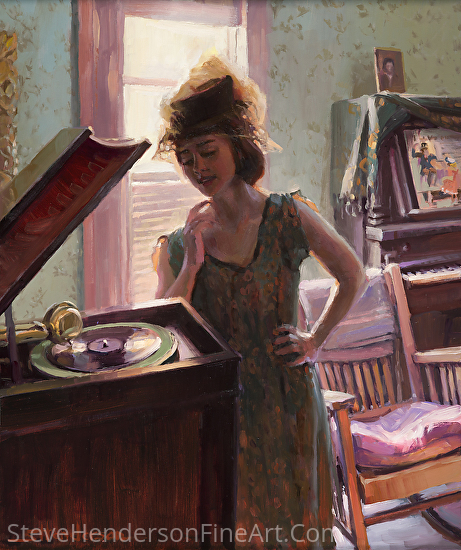 Phonograph Days by Steve Henderson Oil ~ 24 x 20