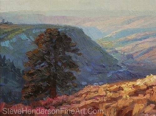 "Lone Pine by Steve Henderson Oil ~ 9"" x 12"""