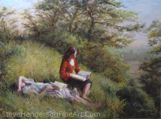 Provincial Afternoon by Steve Henderson Oil ~ 36 x 48