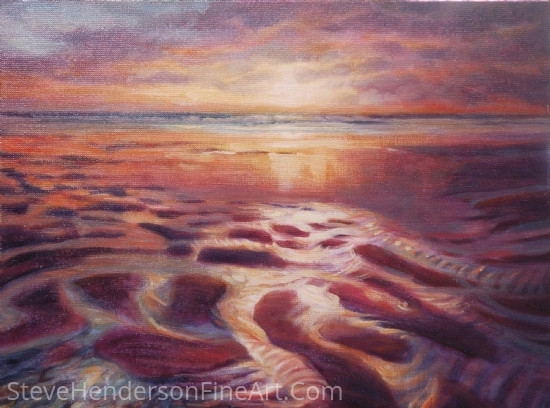 Low Tide by Steve Henderson Oil ~ 12 x 16