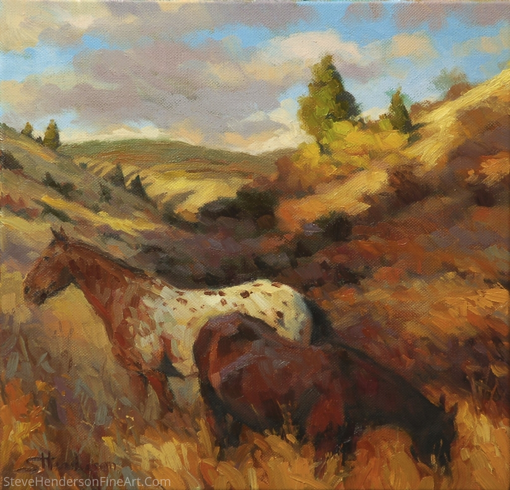 In The Hollow by Steve Henderson Oil ~ 12 x 12