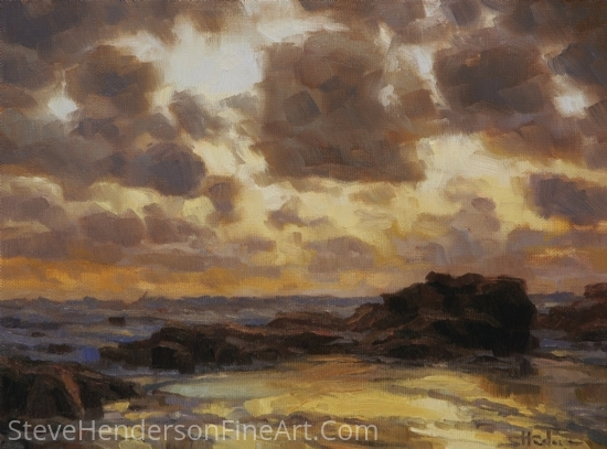Pacific Clouds by Steve Henderson Oil ~ 9 x 12
