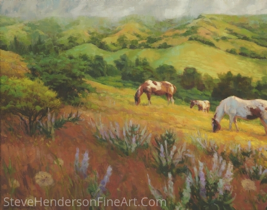 A Peaceful Nibble by Steve Henderson Oil ~ 24 x 30