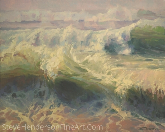 Whitewater by Steve Henderson Oil ~ 24 x 30