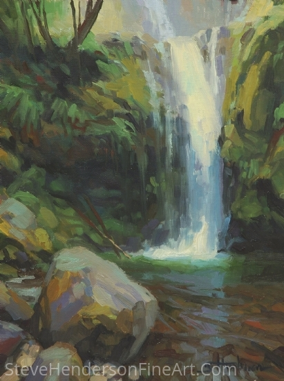 Cascadia -- Western Art Show 2014 Auction Art by Steve Henderson Oil ~ 12 x 9