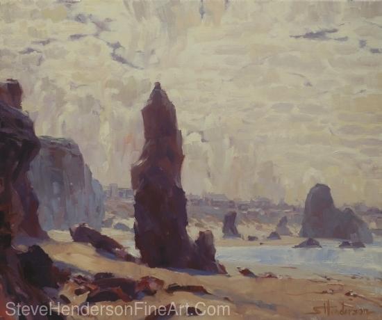 Ocean Spires by Steve Henderson Oil ~ 20 x 24