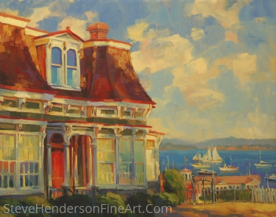 Bayside -- Accepted to the Maritime Art Exhibit, Coos Art Museum by Steve Henderson Oil ~ 16 x 20