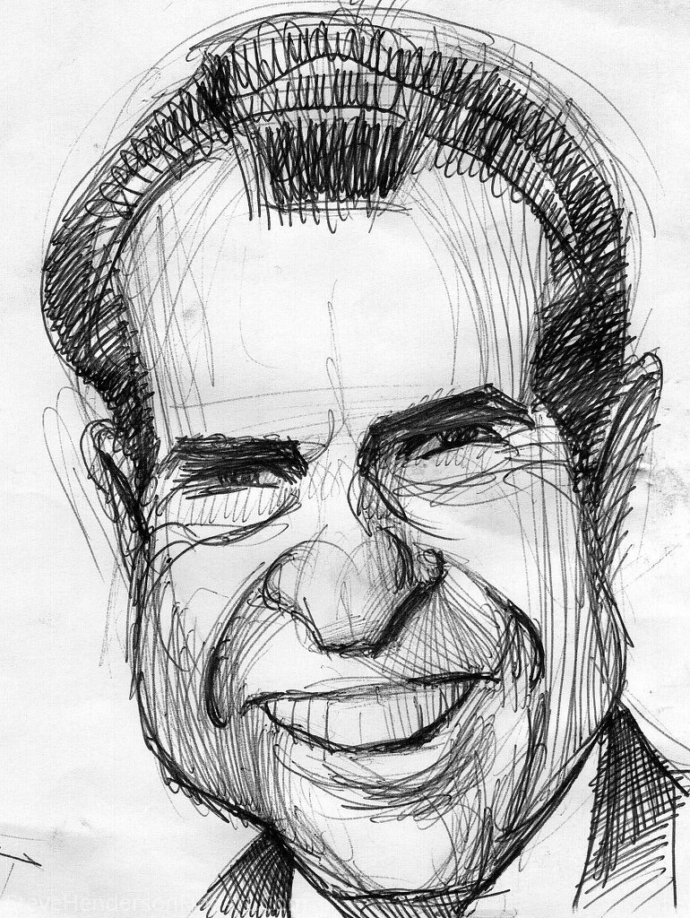 Caricature (Nixon) by Steve Henderson Pencil ~  x