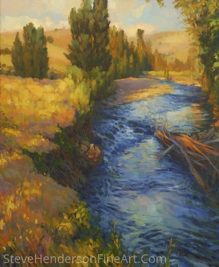 Where the River Bends -- Signed, Limited Edition Print by Steve Henderson  ~  x