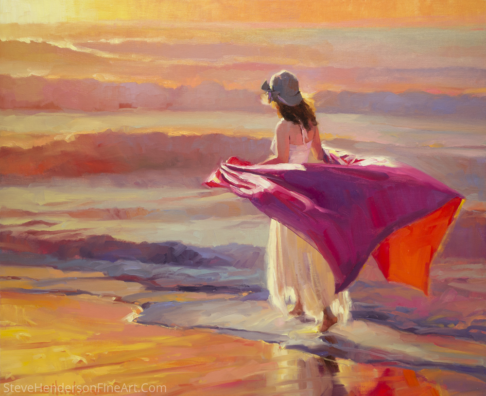 Catching The Breeze by Steve Henderson Oil ~ 30 x 36