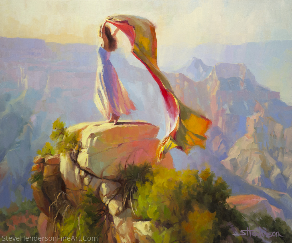 Spirit Of The Canyon by Steve Henderson Oil ~ 30 x 36